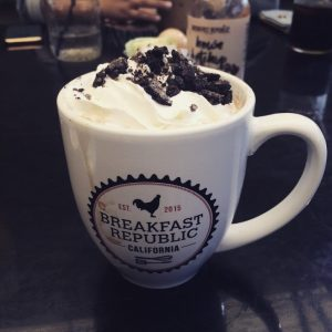 Oreo Cookie Latte at Breakfast Republic