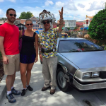 Posing with Doc Brown at Universal Studios