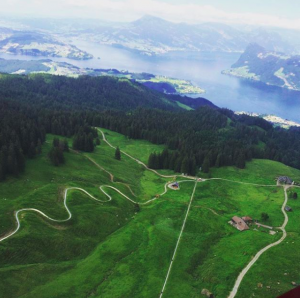 Alpine slide in Switzerland
