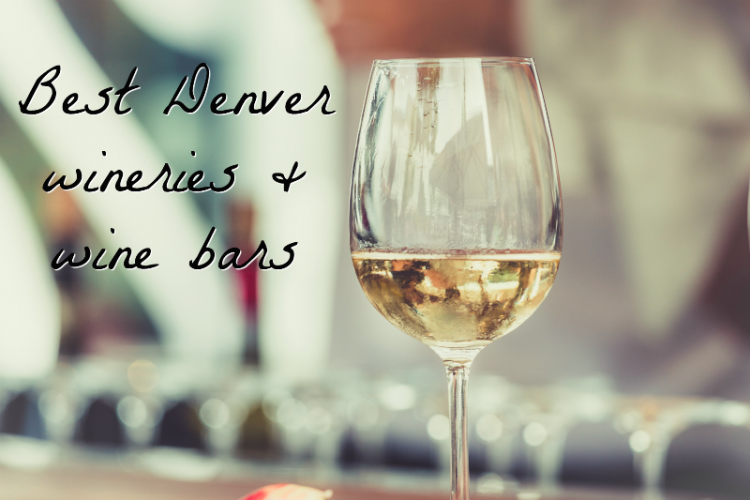 glass of white wine with text overlay