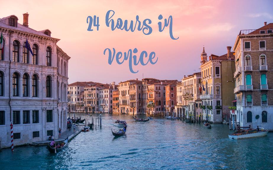 Venice with text overlay