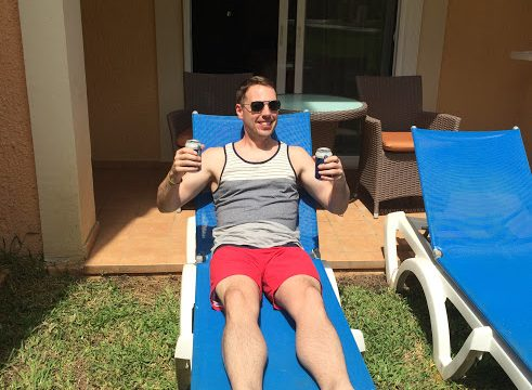 Enjoying some beers in Mexico