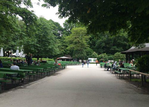 Beer garden in Munich