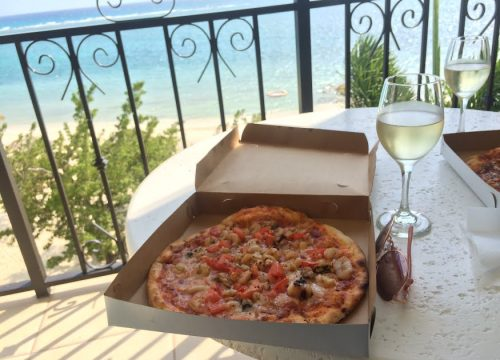 Pizza on the balcony