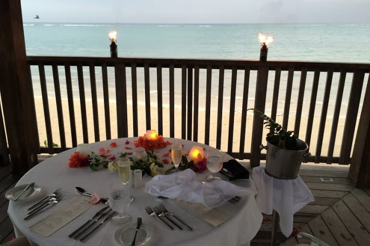 private dinner at Sandals