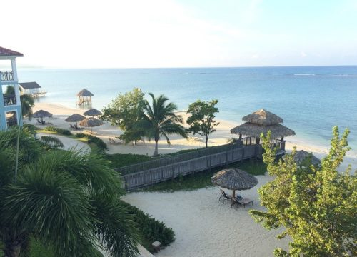 View from room at Sandals South Coast