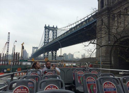 Bus tour of New York City