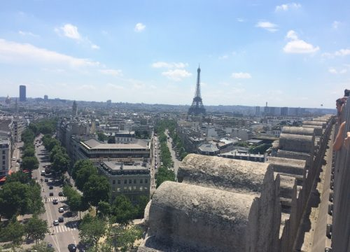 View from the Arc du Triomphe