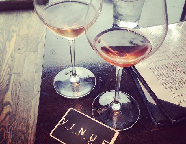Wine samples at Vinue