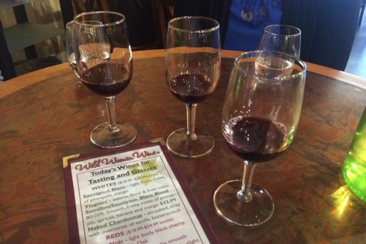 Wine tasting at Wild Women Winery