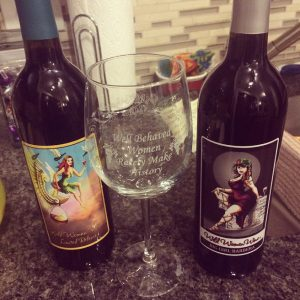 Wild Women Winery souvenir glass