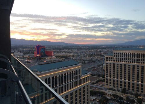 View of the mountains from the Cosmo