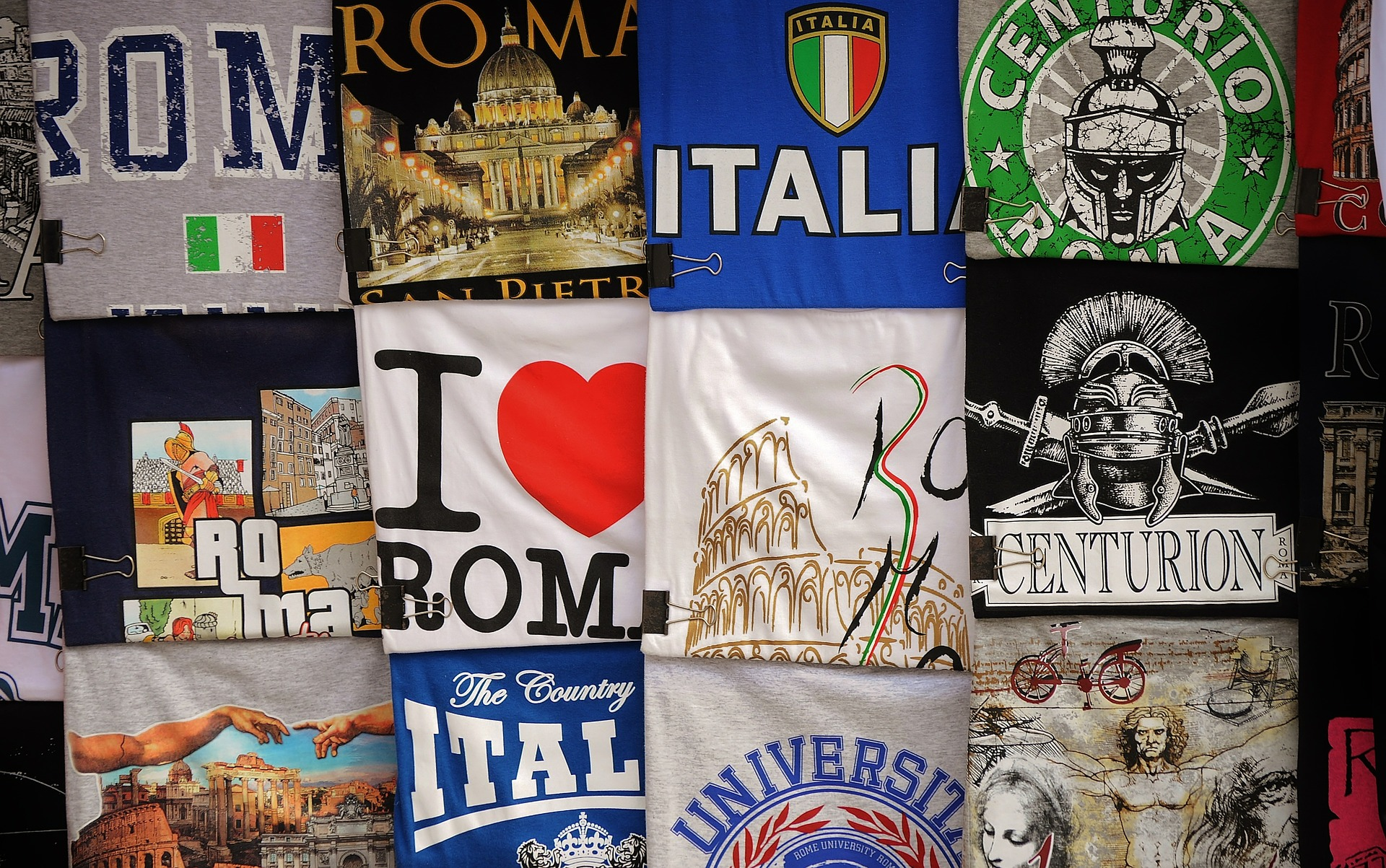 T-shirts for sale in Italy