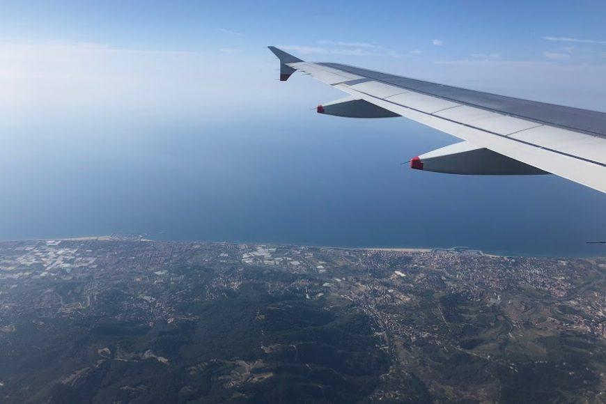 Flying over Barcelona