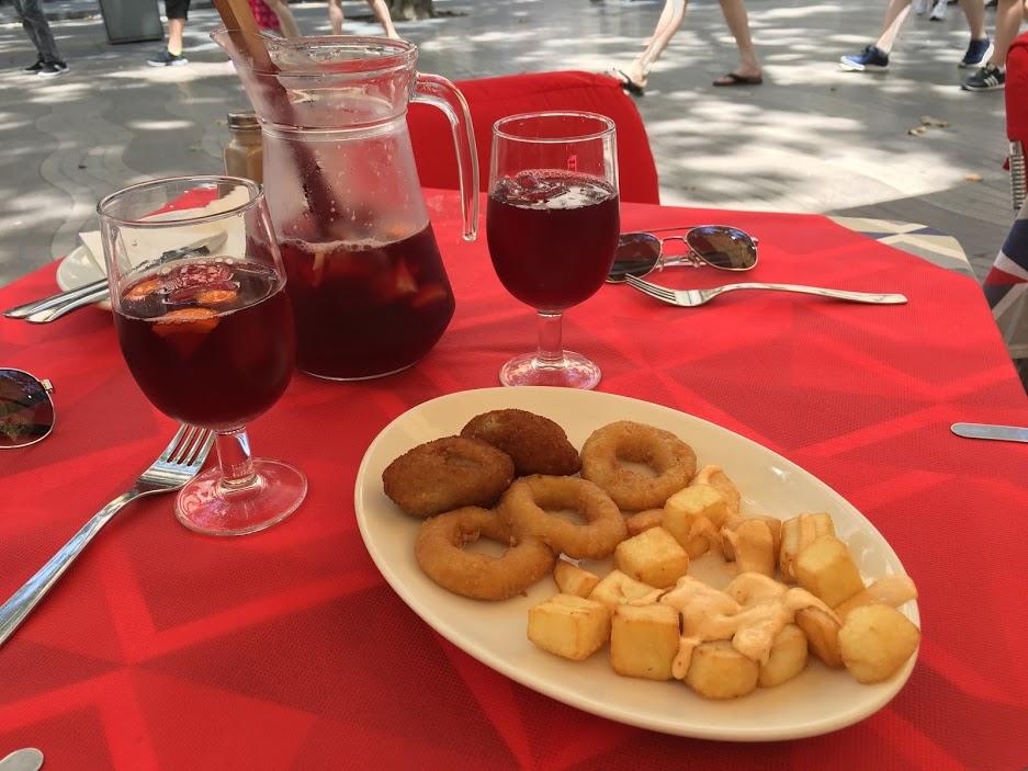Spanish tapas in Barcelona