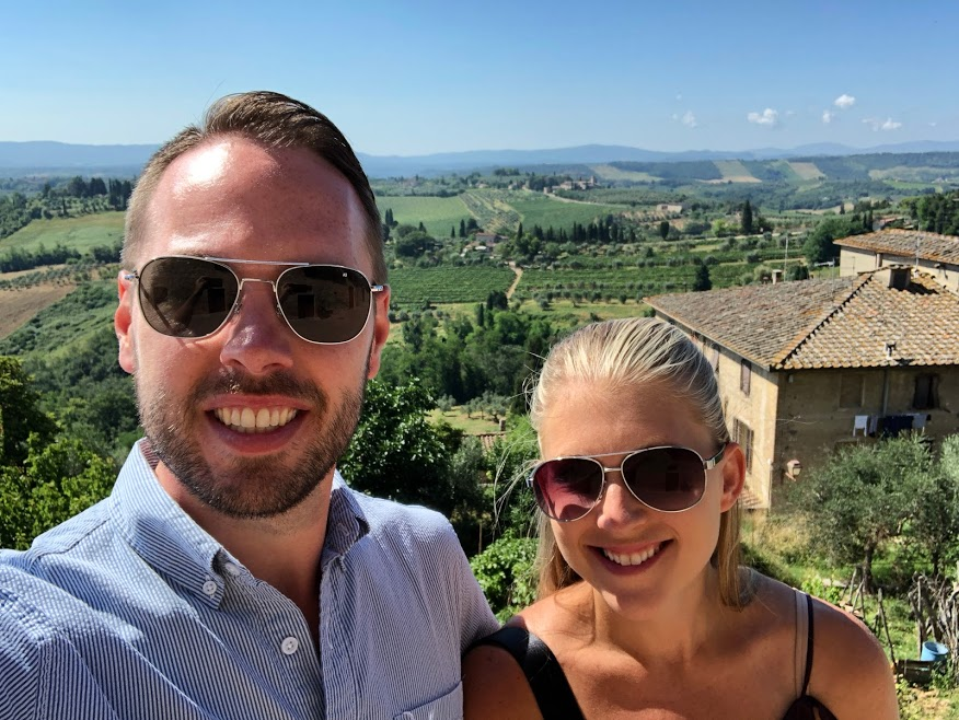 Rick and Stephanie in Tuscany