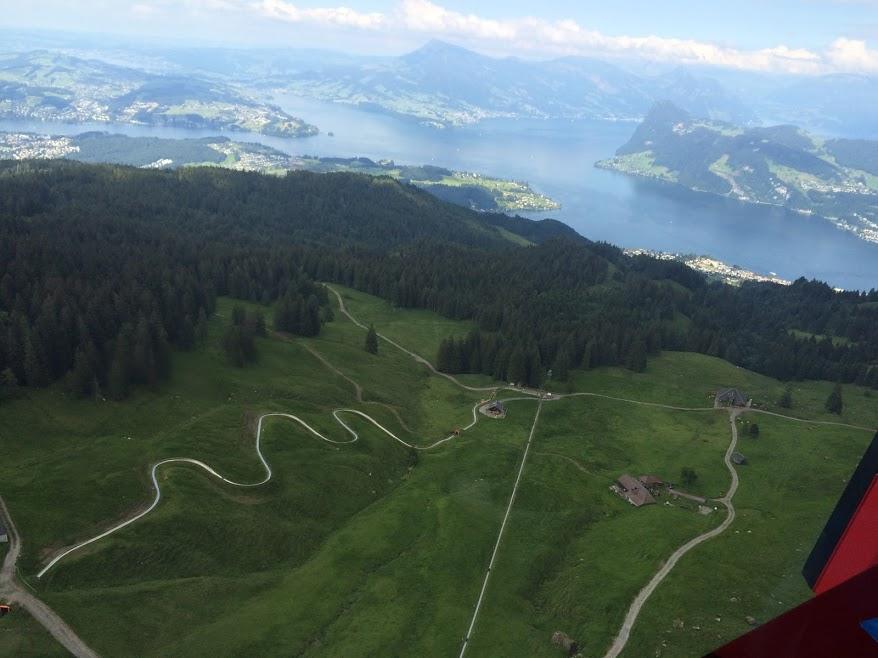 Alpine slide in Switzerland