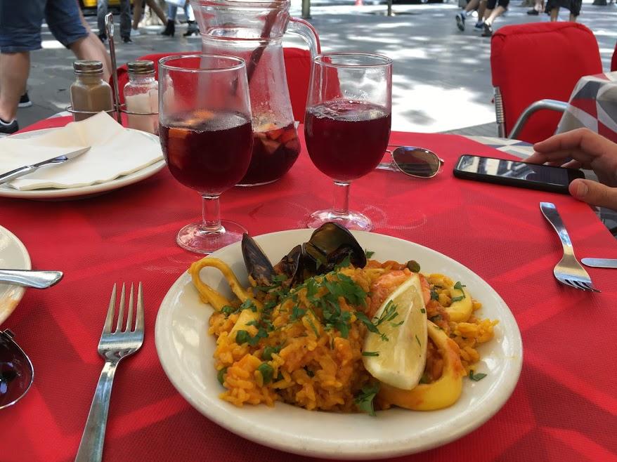 Paella and sangria