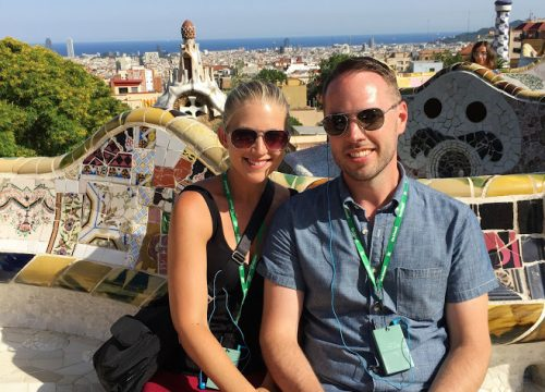 Couple in Park Guell