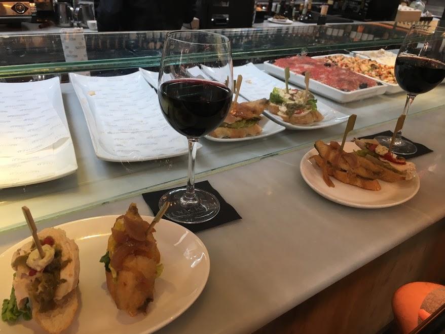 tapas and wine