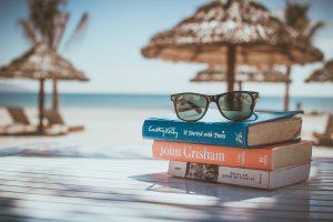 Travel books beach