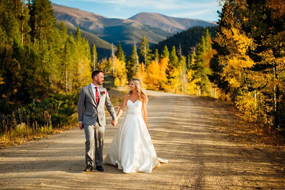 Groom and bride in Colorado