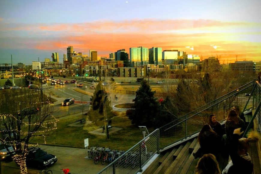 Denver at sunset