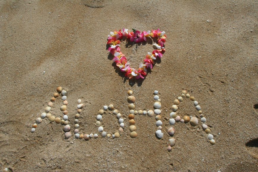 Aloha in the beach