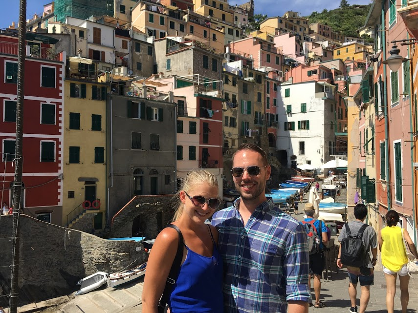 Stephanie and Rick in Cinque Terre