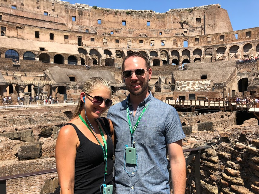 Stephanie and Rick in Colosseum