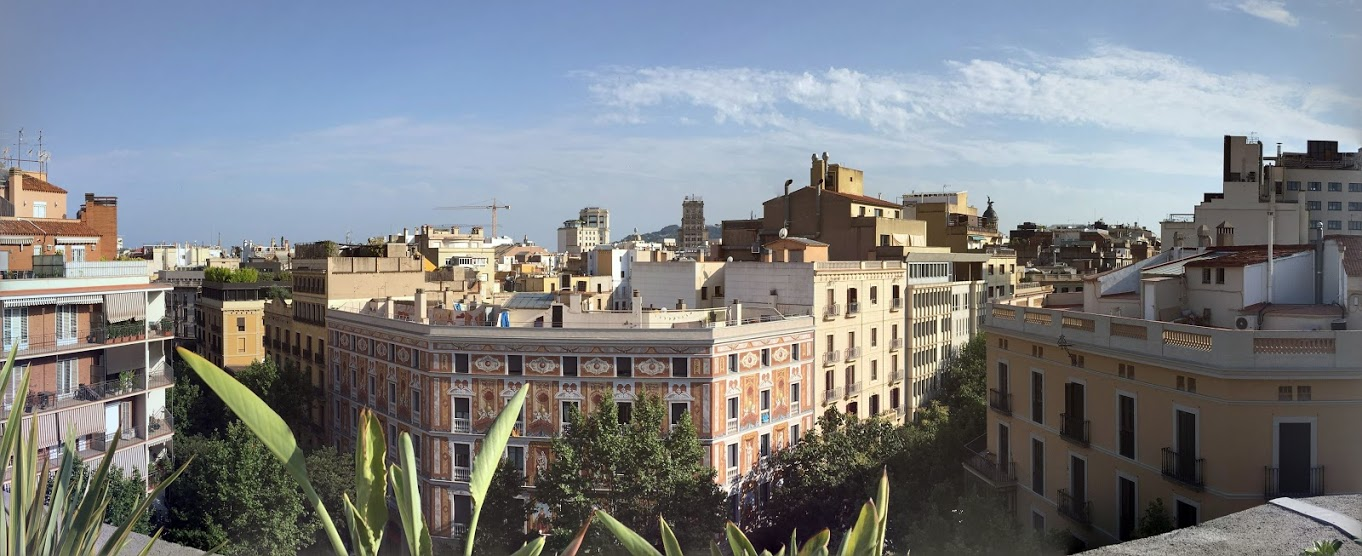 Rooftop view from Catalonia Eixample 1864 hotel
