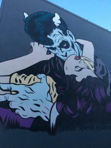 Vampire street art