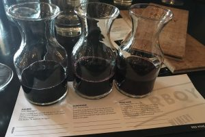 wine flight at Carboy
