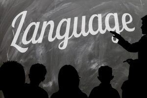 Language on blackboard