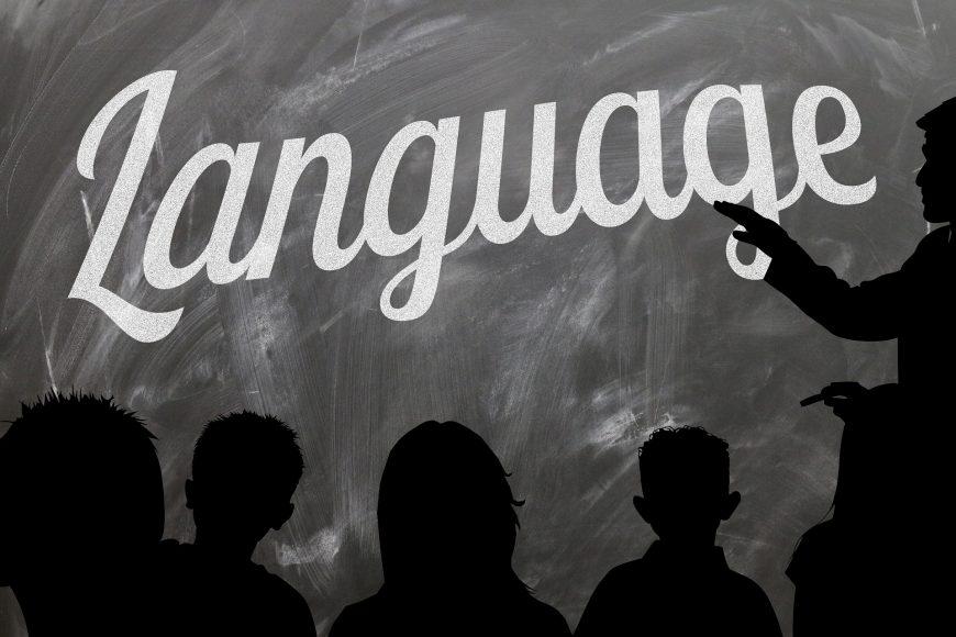 Language on blackboard