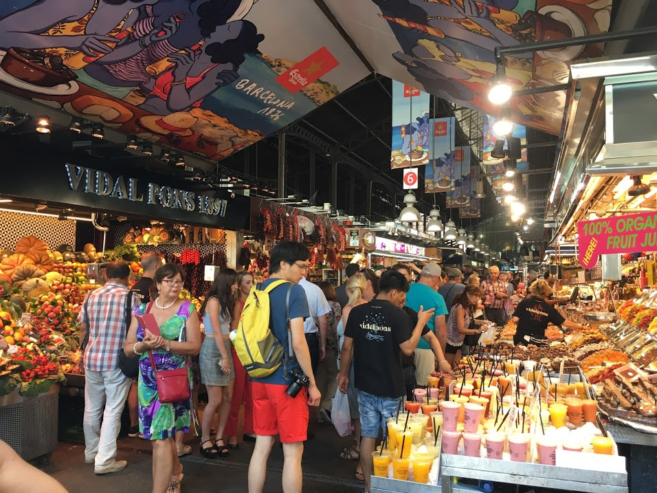 The Boqueria in Barcelona