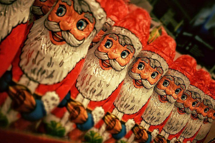 Santa-shaped chocolates