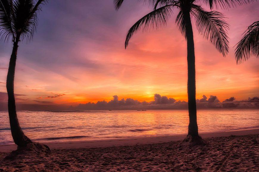 Dominican Republic beach at sunset